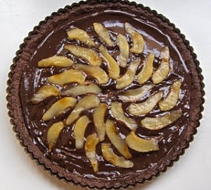 French Chokolate and Pear Cake